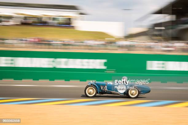 A car competes during the Grid 1 race at Le Mans Classic 2018 on July 7 2018 in Le Mans France