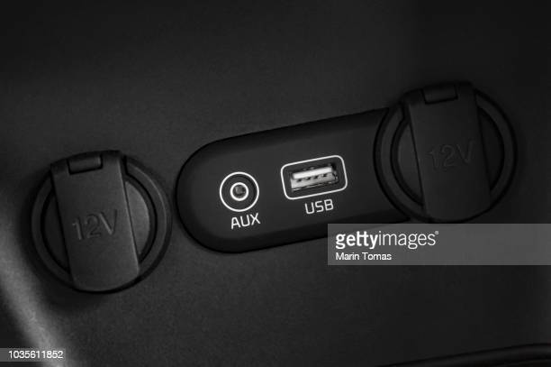 car connection port - cigarette lighter stock pictures, royalty-free photos & images