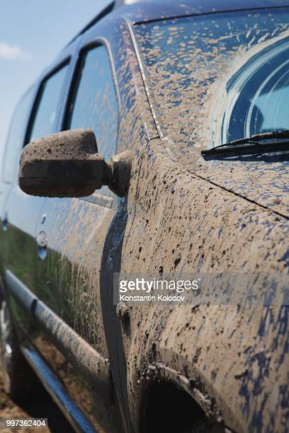 car covered in dirt
