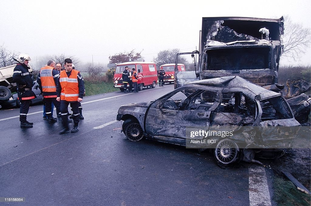 Car Crash In France On March 02, 1999. : News Photo