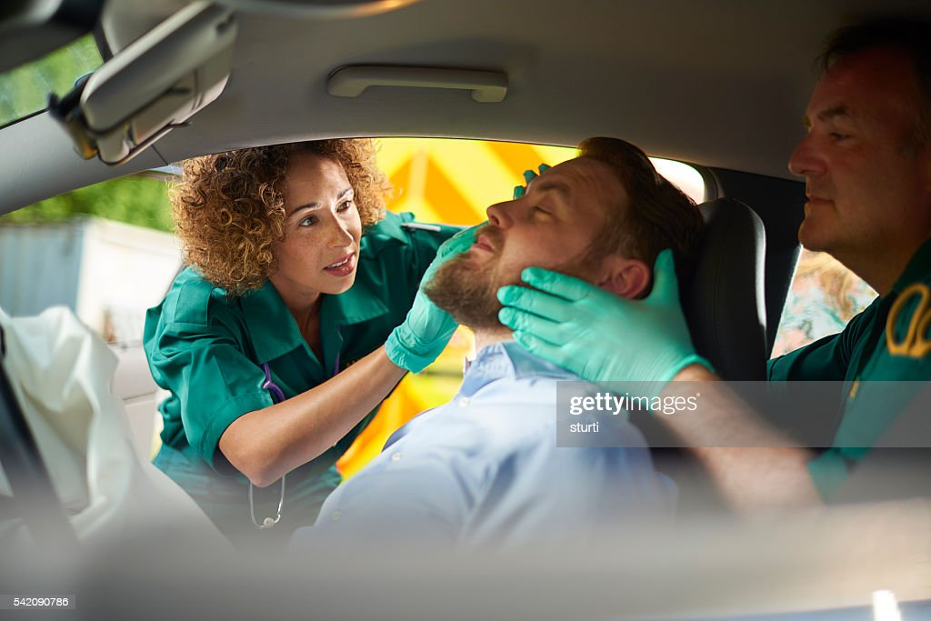 car crash medics : Stock Photo