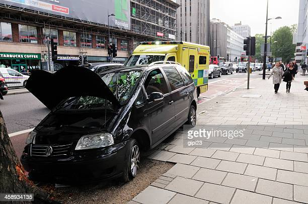 car crash - traffic accident stock photos and pictures