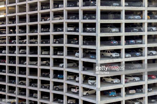 car culture - parking garage stock pictures, royalty-free photos & images