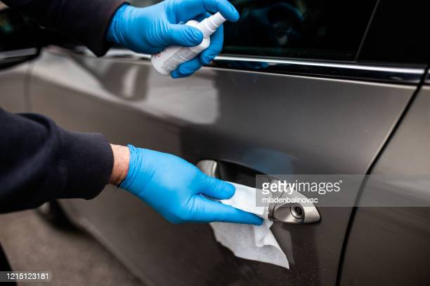car disinfection. coronavirus covid-19 - disinfection stock pictures, royalty-free photos & images