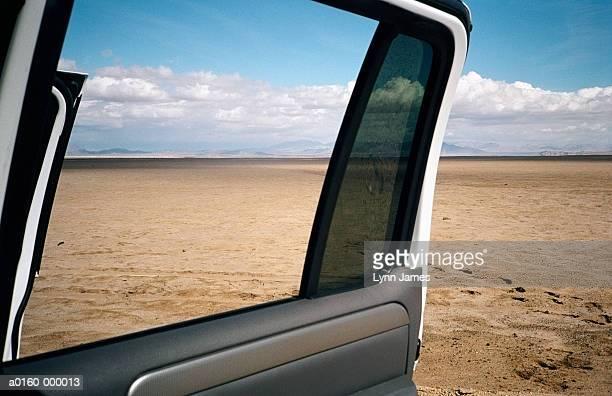Car Door Open to Mojave Desert