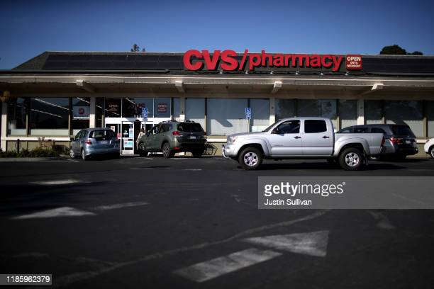 A car drives by a CVS Pharmacy on November 06 2019 in San Anselmo California CVS Health reported betterthanexpected third quarter earnings with...