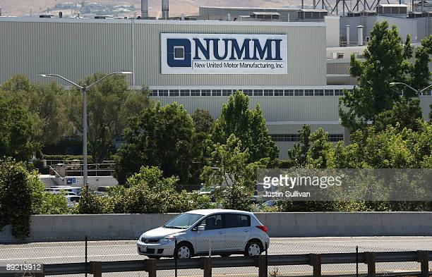 A Car Drives By The New United Motor Manufacturing Inc Plant July 23 2009 In Fremont