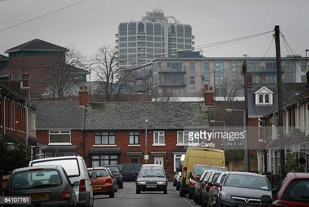 A car drives down a street close to the town centre on December 22 2008 in Swindon England Swindon has historically had a reputation as something of...