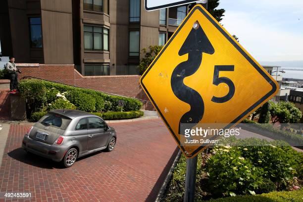 A car drives down Lombard Street on May 20 2014 in San Francisco California The San Francisco Municipal Transportation Agency Board of Directors is...