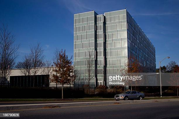 Car drives past of the Lockheed Martin Corp. Headquarters in Bethesda, Maryland, U.S., on Friday, Nov. 16, 2012. President Barack Obama expressed...