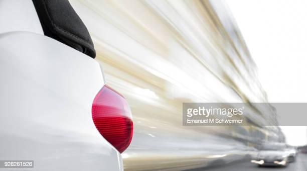 car drives through Berlin - long exposure