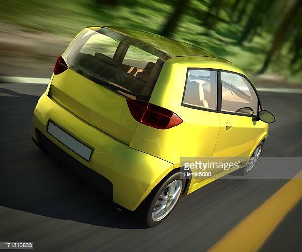 Auto fahren forest road-clipping-Pfad enthalten