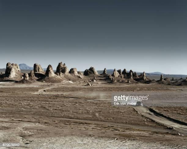 Car driving in desert