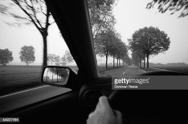 Car Driving on Country Road