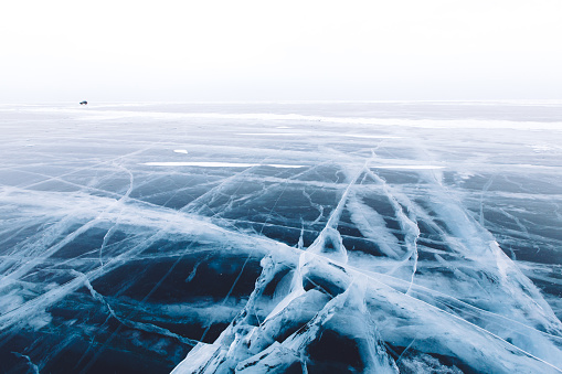 Car driving on Lake Baikal - gettyimageskorea