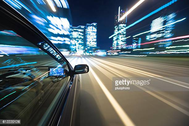 Car Driving on Road. Kanagawa Prefecture, Japan