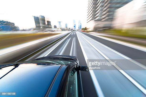 car driving on road - plusphoto stock pictures, royalty-free photos & images