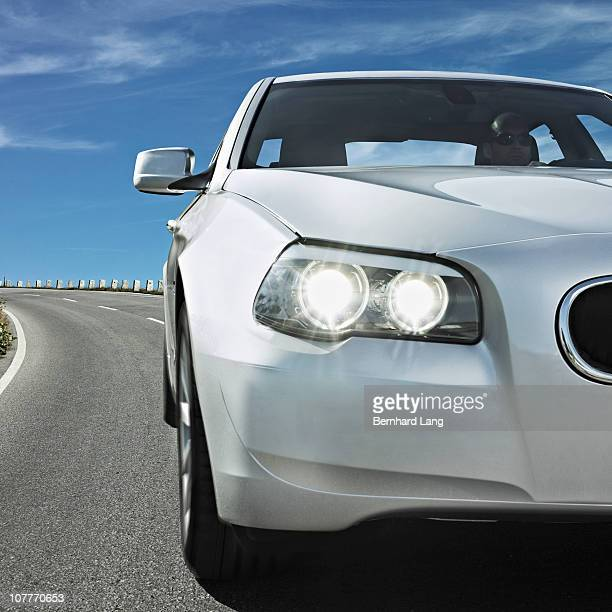 car driving - headlight stock pictures, royalty-free photos & images