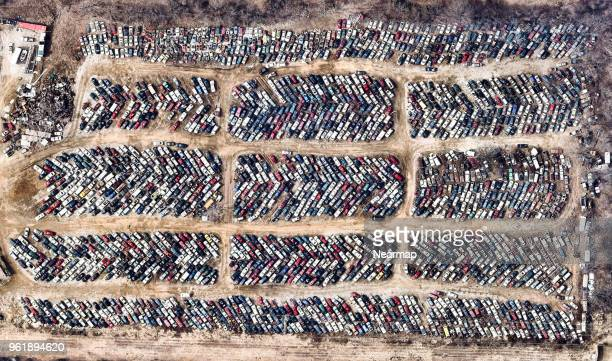 Car dump in the suburbs of Columbia, Missouri, USA
