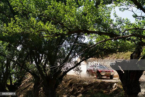 Car during Baja Aragon World Cross Country Rally event celebrated in Teruel Aragón Spain on 2224 July 2016