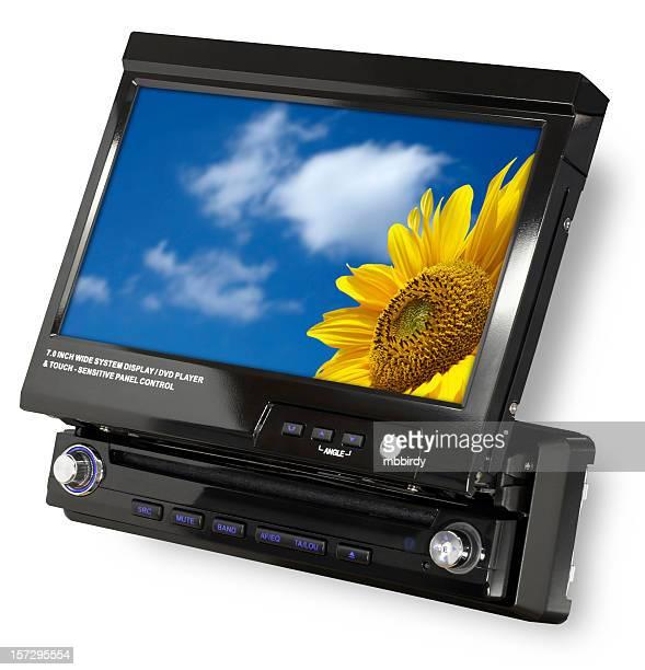 """Receptor de DVD/CD con 7 """"LCD (clipping path (Borde de corte"""