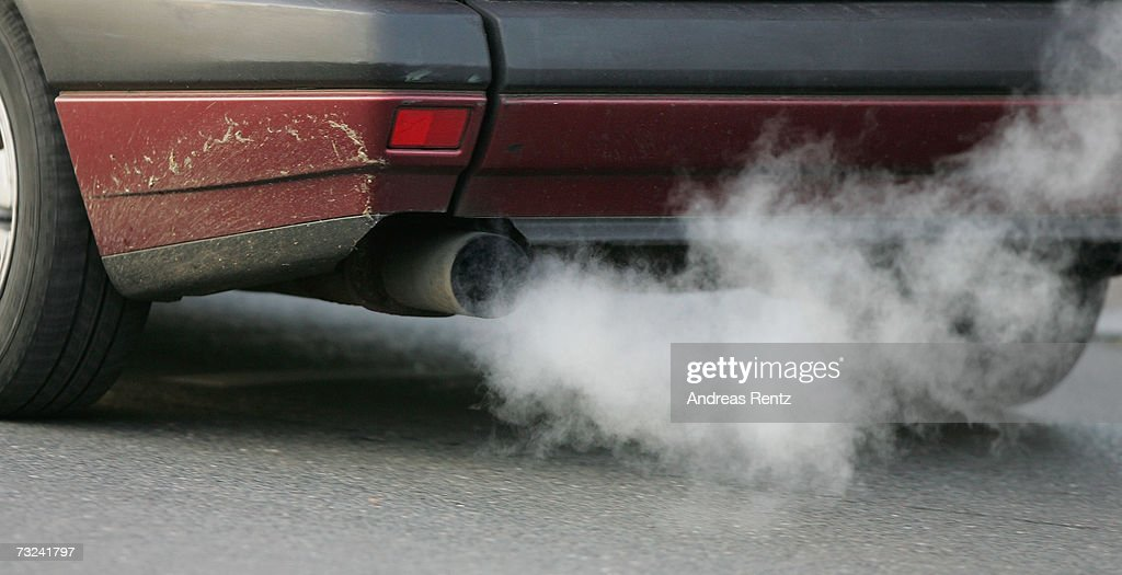 A car emits exhaust fumes on February 7, 2007 in Berlin, Germany. The European Commission announced new carbon dioxide (CO2) targets for car makers which the European Automobile Manufacturers Association said it could not agree with, stating they are 'unbalanced and damaging to the European economy in terms of wealth, employment and growth potential.'