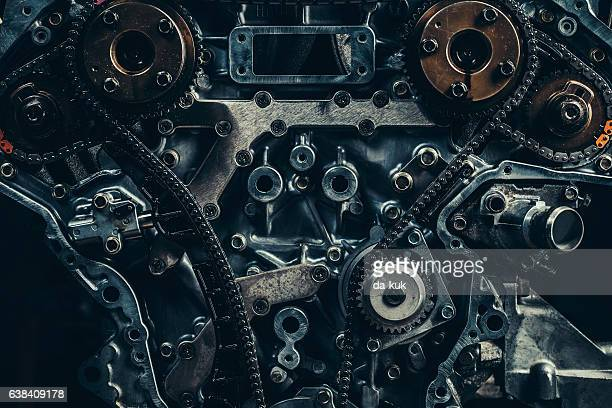 v8 car engine close-up - gear stock pictures, royalty-free photos & images