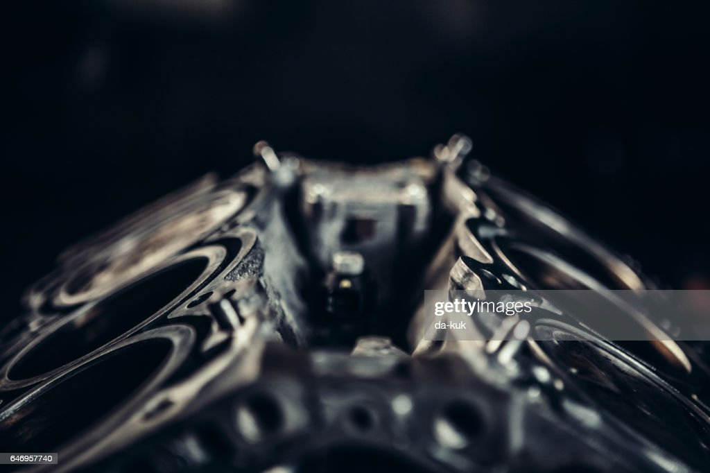 V8 car engine close-up : Stock Photo