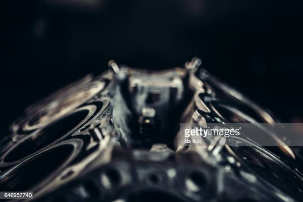 v8 car engine close-up - cylinder stock pictures, royalty-free photos & images