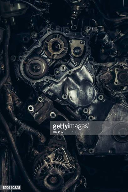 V8 car engine close-up