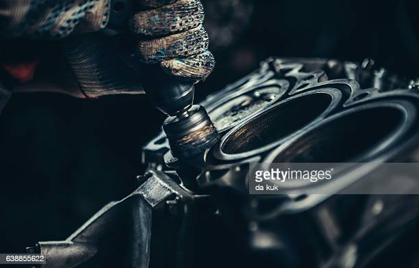 v8 car engine repair - piston stock pictures, royalty-free photos & images