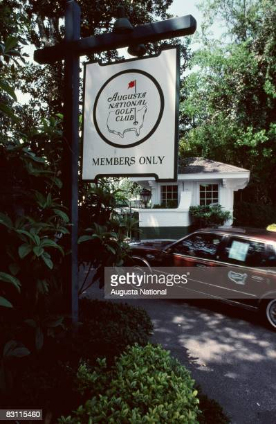 A Car Enters The Golf Club At The Main Entrance During The 1982 Masters Tournament