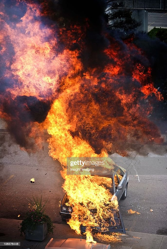 Car Explosion : Stock Photo