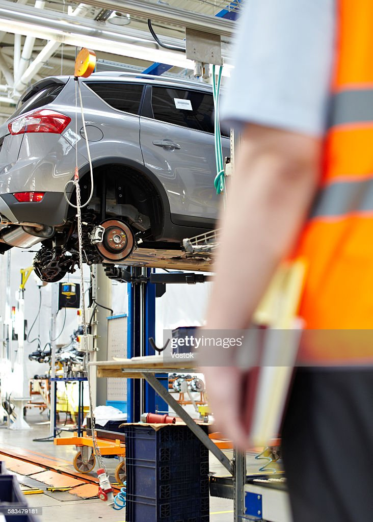 Car factory in Russia : Stock Photo