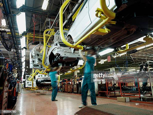 car factory production line - transportation stock pictures, royalty-free photos & images