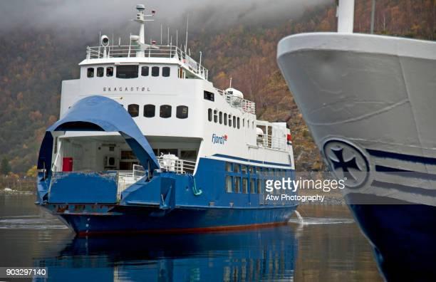 Car Ferry Docking in Flåm