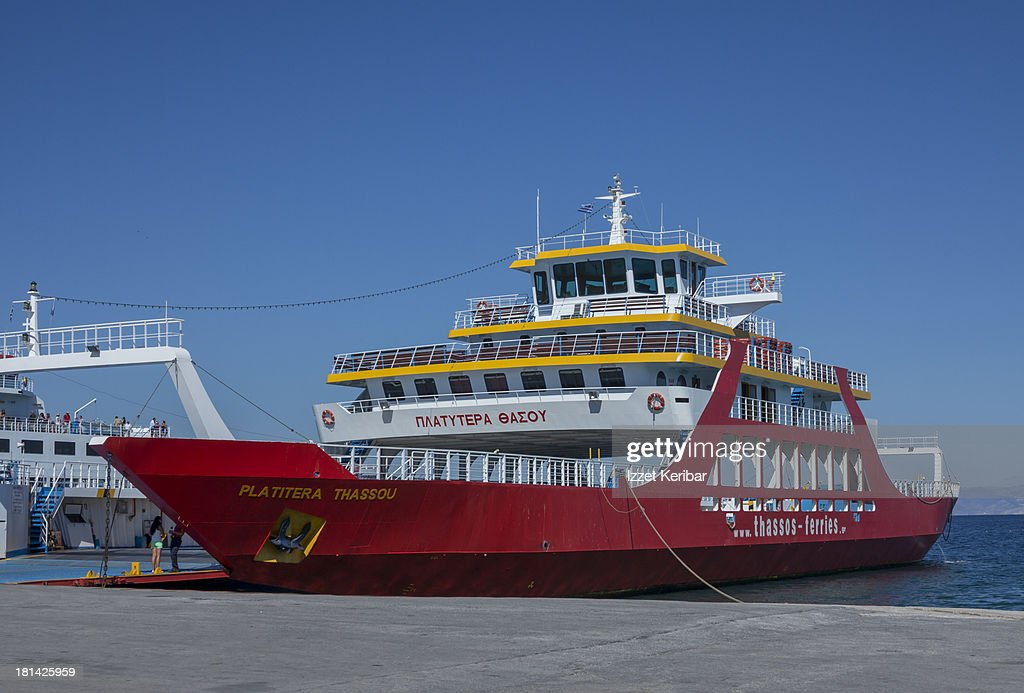 Car Ferry Kavala Thassos Greece Stock Photo Getty Images