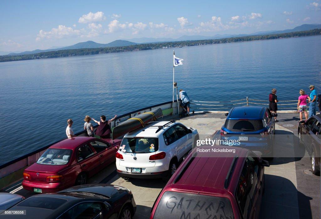 Car Ferry On Lake Champlain, Vermont : News Photo