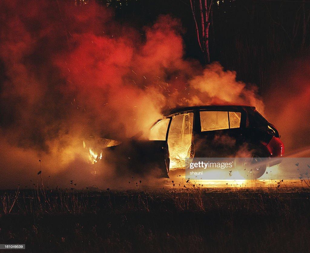Car Fire : Stock Photo