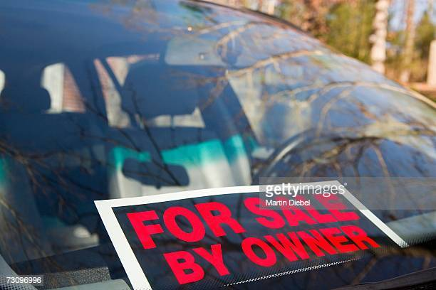 car ?for sale by owner? - for sale stock photos and pictures