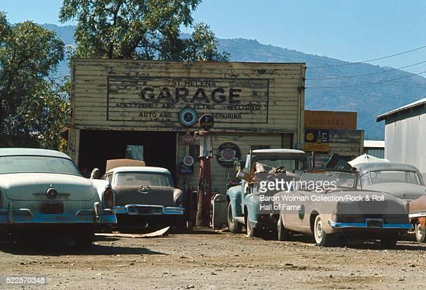 Car garage in Napa Valley Oakville CA United States circa 1970s