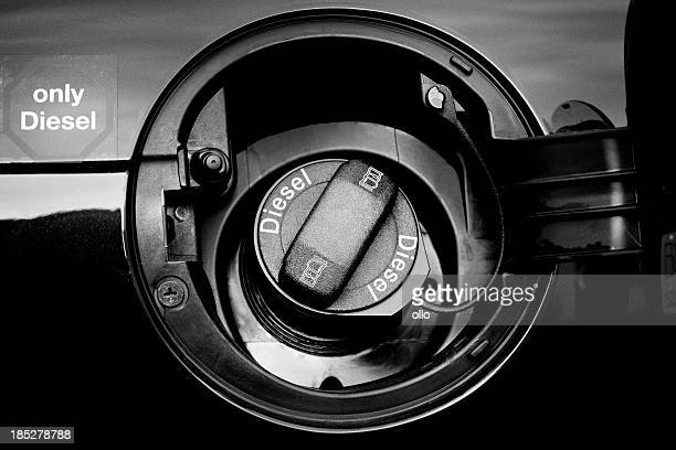 car gasoline tank, diesel only - gas tank stock photos and pictures
