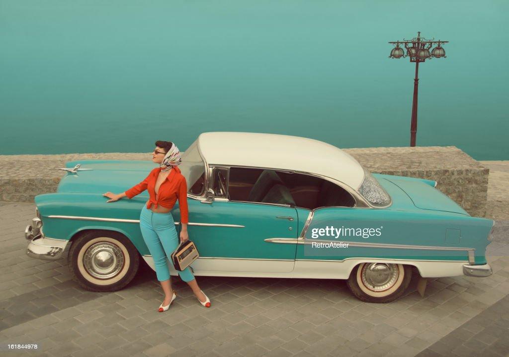 Car Girl : Stock Photo