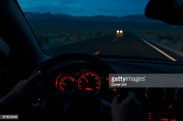 Car going through Death Valley National Park