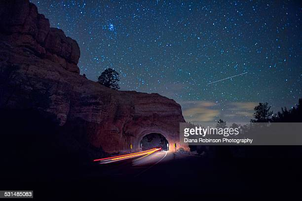 Car going through the Red Canyon Tunnel on Utah St