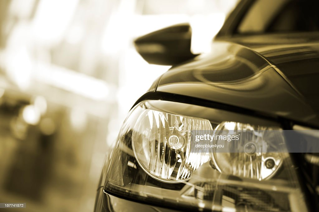 Car headlight : Stock Photo