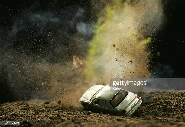 car hitting landmine - guerrilla warfare stock pictures, royalty-free photos & images