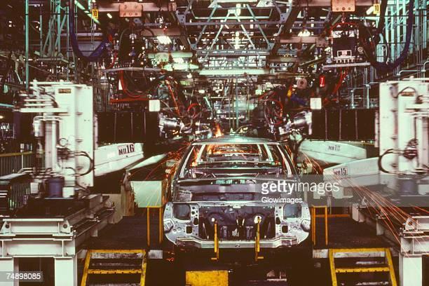 Car in an assembly line, Zama, Kanagawa Prefecture, Japan