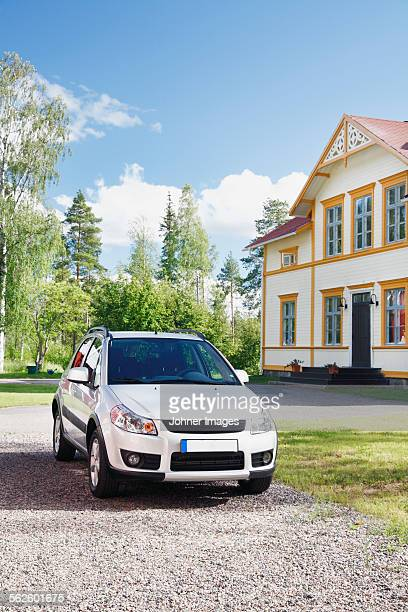 Car in front of the house