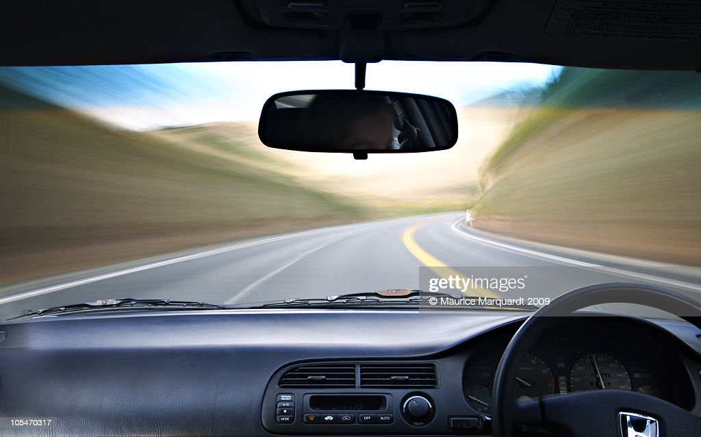 Car in motion : Foto stock
